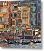 Venice Palazzi At Sundown Metal Print