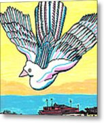 Venice Seagull Metal Print by Don Koester
