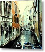 Venice Street Scene Metal Print