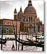 Venice The Grand Canal Metal Print