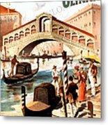Venice Vintage Poster Metal Print