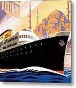 Venise Vintage Travel Poster Metal Print