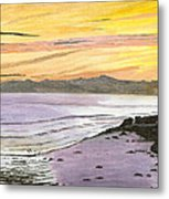 Ventura Point At Sunset Metal Print