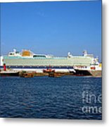 Ventura Sheildhall Calshot Spit And A Tug Metal Print by Terri Waters