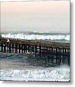 Ventura Storm Pier Metal Print