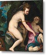 Venus And Adonis Metal Print