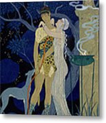 Venus And Adonis  Metal Print by Georges Barbier