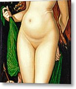 Venus And Amor Metal Print