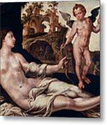 Venus And Amor Metal Print