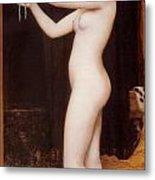 Venus Binding Her Hair Metal Print