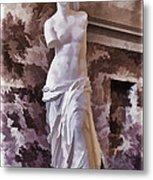 Venus De Milo - Louvre Metal Print