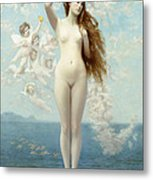 Venus Rising The Star Metal Print