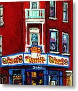 Verdun Landmarks Pierrette Patates Resto Cafe  Deli Hot Dog Joint- Historic Marquees -montreal Scene Metal Print