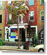Verdun Variety Store Summer Street Scene Montreal Depanneur Double Staircases Carole Spandau Metal Print