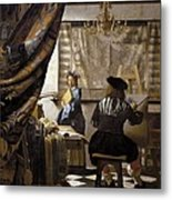 Vermeer, Johannes 1632-1675. The Metal Print by Everett