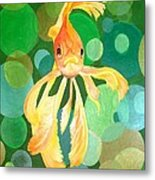Vermilion Goldfish Metal Print