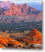 Vermillion Cliffs At Sunrise Metal Print