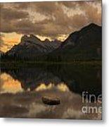 Vermillion Lake Sunset Metal Print