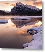 Vermillion Lakes In Banff National Park Metal Print