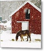 Vermont Christmas Eve Snowstorm Metal Print
