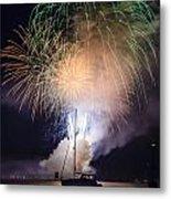 Vermont Fireworks Metal Print