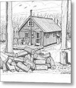 Vermont Hunter Lodge Metal Print