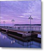 Vermont Lake Champlain Sunrise Clouds Fishing Pier Metal Print