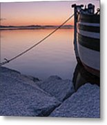 Vermont Lake Champlain Sunset Nautical Boat  Metal Print
