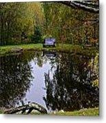 Vermont Pond In Autumn Metal Print