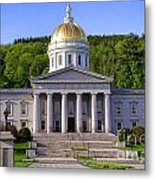 Vermont State Capitol In Montpelier  Metal Print