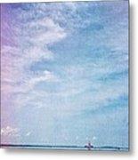 Vermont Summer Beach Boats Clouds Metal Print
