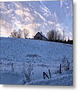 Vermont Winter Hill Metal Print