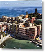 Vernazza From Above Metal Print