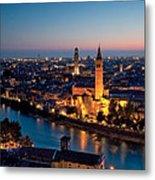 Verona At Sunset Metal Print