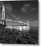 Verrazano-narrows Bridge Bw Metal Print