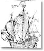 Verrazzano's Ship Metal Print