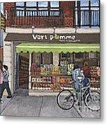 Vert Pomme  Fruiterie Meloche Et Fille Metal Print