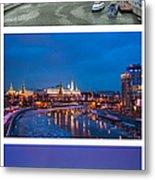 Vertical Collage - Kremlin View - Featured 3 Metal Print