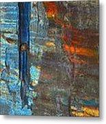 Vertical Dominance In Horizontal Sea Metal Print
