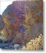 Vertical View Of Big Painted Canyon Trail In Mecca Hills-ca Metal Print