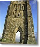 Vertical View Of Glastonbury Tor Metal Print