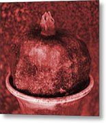 Very Red Pomegranate Metal Print