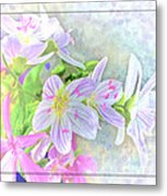 Very Tiny Wildflower Boquet Digital Paint Metal Print