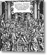 Vesalius Teaching Anatomy Metal Print
