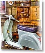 Vespa Scooter Metal Print