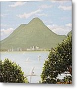 Vesuvius And Umbrella Pine Tree Metal Print