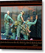 Veterans At Vietnam Wall Metal Print by Carolyn Marshall