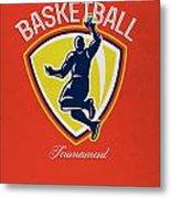 Veteran's Day Basketball Tournament Poster Metal Print by Aloysius Patrimonio