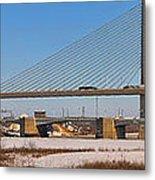 Veterans Glass City Skyway Pano Metal Print