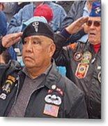 Veterans Saluting Passing Flag In A Parade Sacaton Arizona 2005-2013 Metal Print